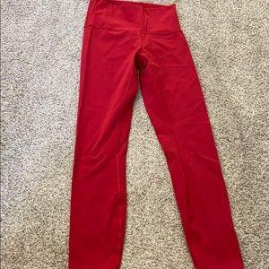 Red lululemon legging